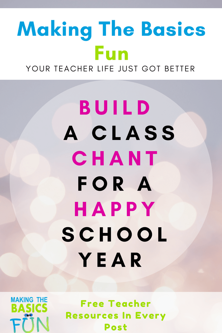 Build A Class Chant For A Happy School Year